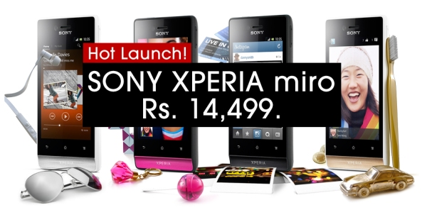 Sony Xperia miro - Buy/Pre-order from Flipkart for Rs 14499